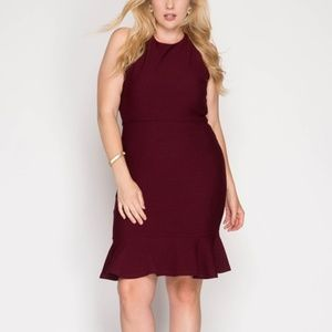 Dresses & Skirts - PLUS Wine Mermaid Midi Dress